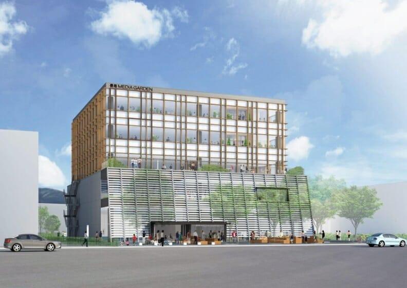 伊東豊雄が設計を担当、長野県に新たな複合施設「信毎メディアガーデン」が4月28日から開業