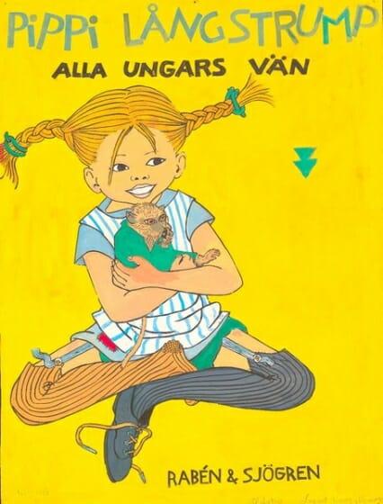 イングリッド・ヴァン・ニイマン 《『長くつ下のピッピ』出版社用ポスター原画》 1940年代後半 アストリッド・リンドグレーン社(スウェーデン)所蔵  Illustration Ingrid Vang Nyman ©The Astrid Lindgren Company. Courtesy of The Astrid Lindgren Company