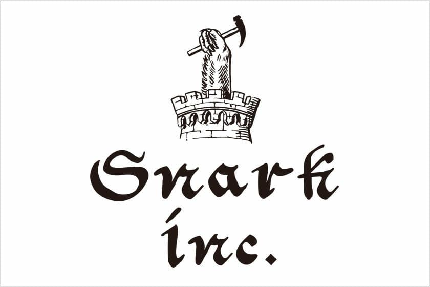 SNARKのロゴマーク。ケモノの腕が印象的