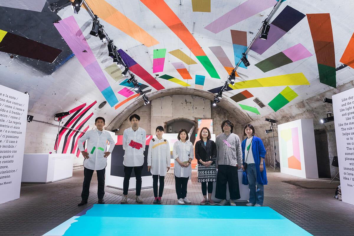 ミラノデザインウィーク2018 HARUの展示の中心となったメンバーの集合写真