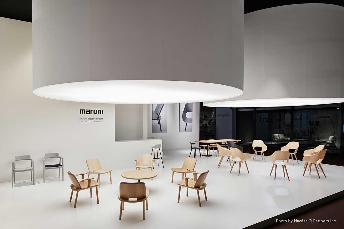 スターブランドが居並ぶホール16での出展も3年目となるマルニ木工(Photo:© Nacása & Partners Inc.)