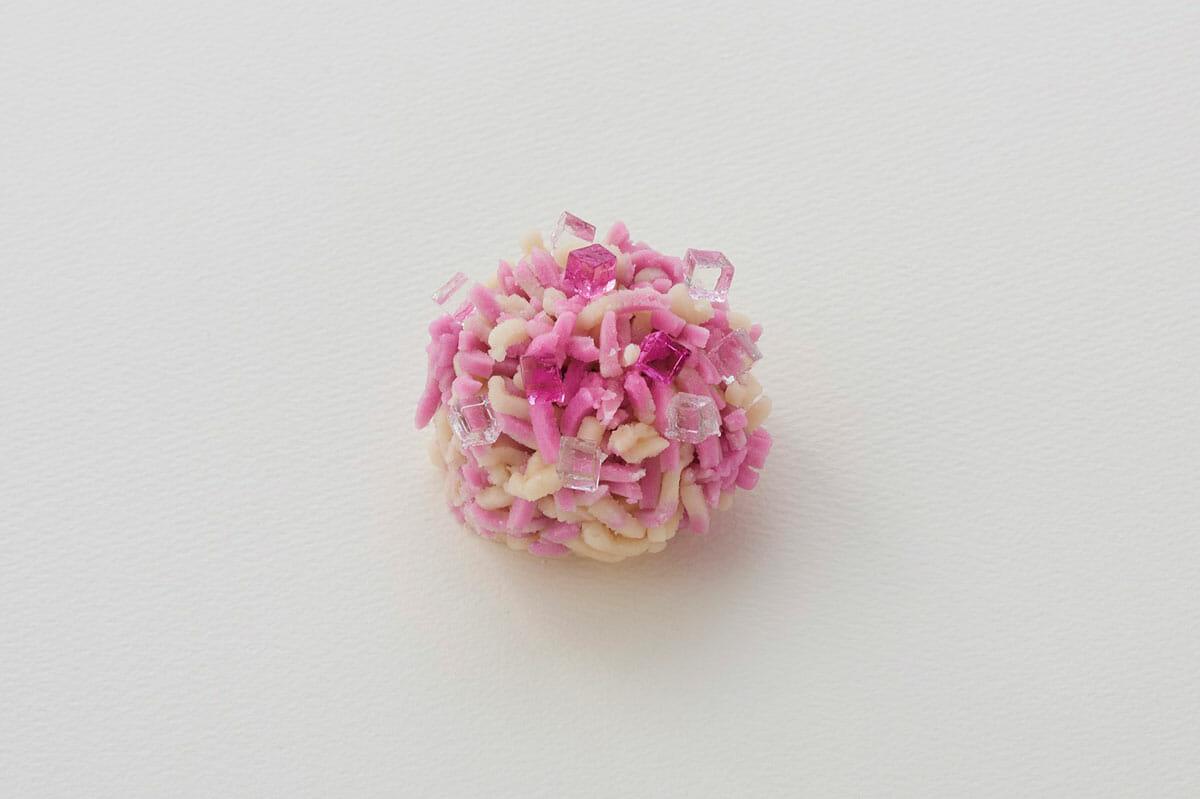 とらや季節の生菓子・きんとん製「紫陽花」