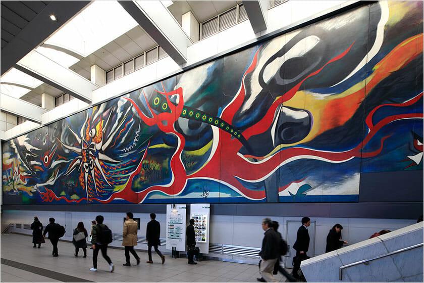 《明日の神話》1968年制作/2008年設置 東京・渋谷
