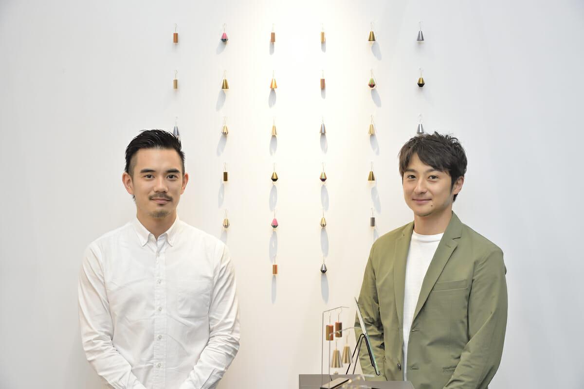 グラフィックデザイナーの横山徳さん(左)、プロダクトデザイナーの原田元輝さん