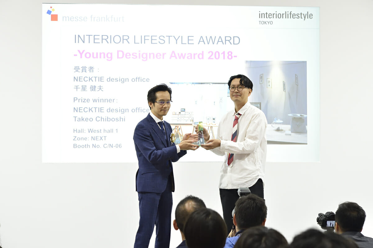 「Young Designer Award」を受賞した、『NECKTIE design office』千星健夫さん