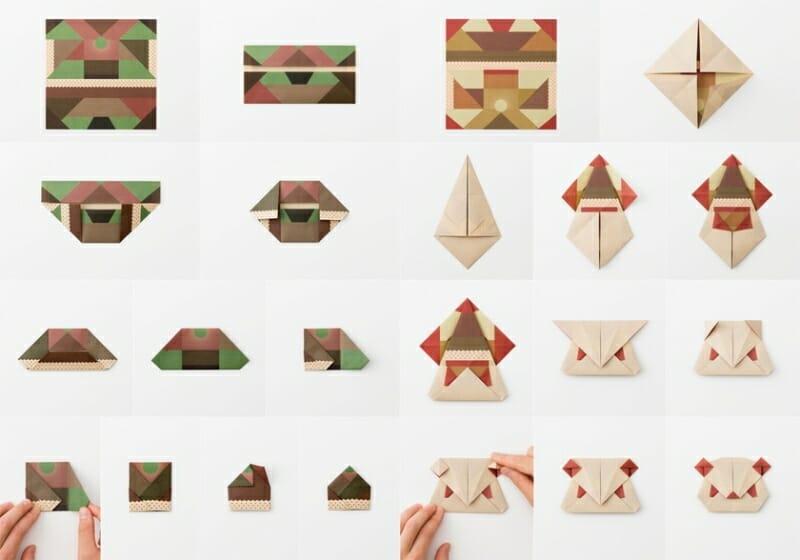 ORIGAMI(MEETS TAKEGAMI)タケノコやパンダなどを折るための専用グラフィックで彩られています