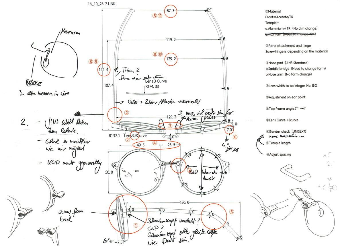 JINS Design Projectの第2弾「ALL ROUND」。コンスタンティン・グルチッチは、メガネのアーキタイプ(原型)であるラウンド型に焦点を絞ってデザイン