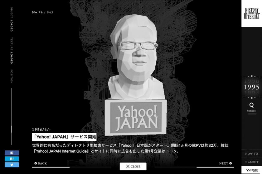 Yahoo! JAPAN「HISTORY OF THE INTERNET ~インターネットの歴史~」 (2)