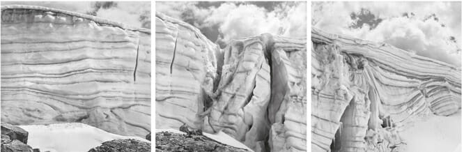 「氷河そのものがメッセージだ」とわかる、メインビジュアルに選ばれたペルーの氷河 Glaciar Pastoruri. Cordillera Blanca. Peru. 13 January 2016 ©Daniel Schwartz