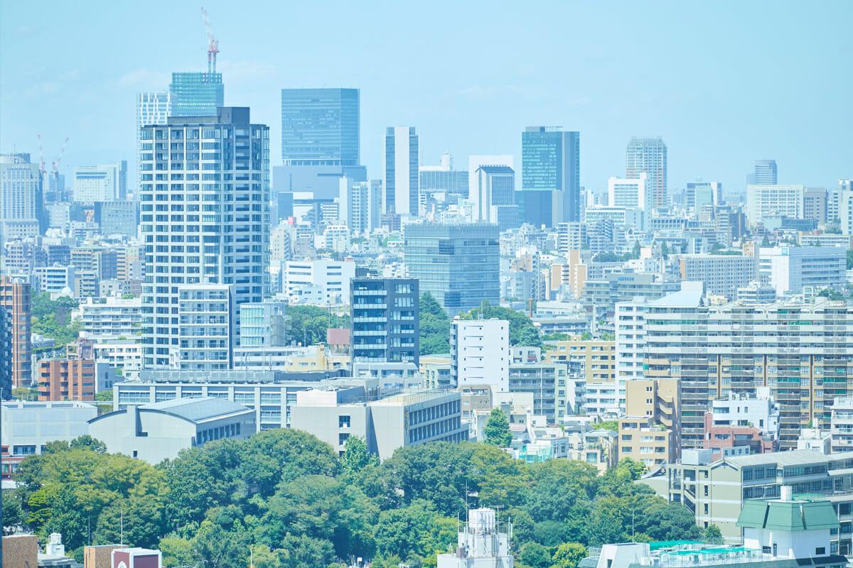 丹青社本社の会議室からの風景