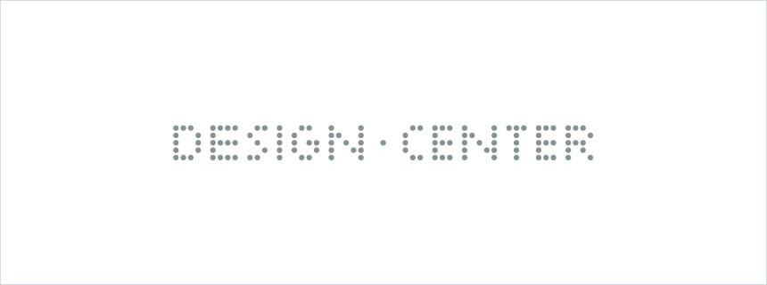 組織設立にあたりつくられた「DESIGN CENTER」ロゴ