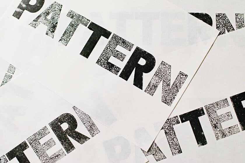 その紙活字で刷った試し刷り