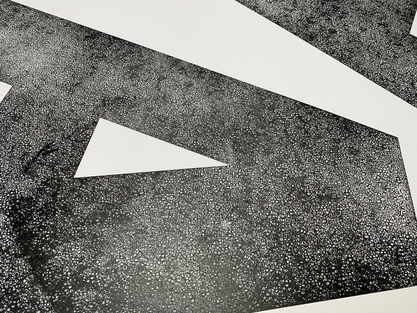 ポスターの部分アップ。かぐやの凸凹したテクスチャがおもしろい