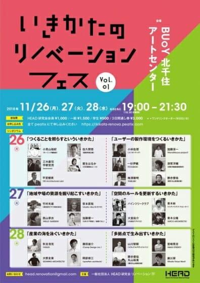 いきかたのリノベーションフェス Vol,01