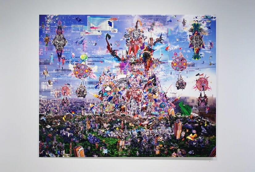 梅沢和木 神鬼勃ツ三千世界之画像海 2016  1303×1620mm