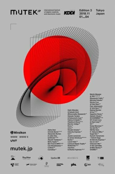 最先端のデジタルアートと電子音楽の祭典「MUTEK.JP 2018」が、日本科学未来館を中心に11月1日から4日間開催
