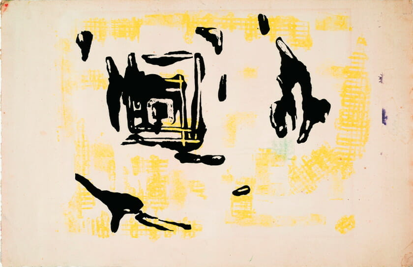 長谷川三郎《無題》 1954年、紙、リトグラフ、33.5×51.2cm、ティア&マーク・ワッツ・コレクションPhoto: Kevin Noble