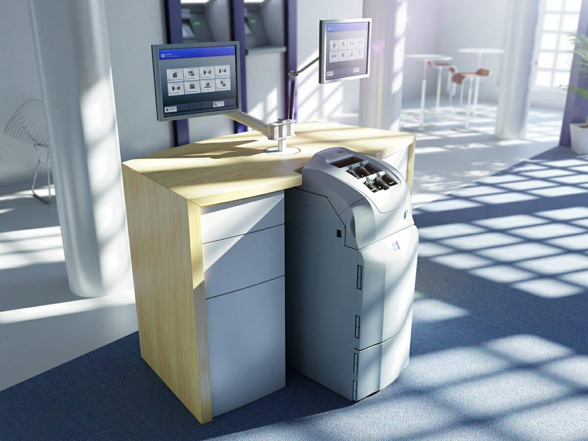 神澤さんが2011年にGUIを手がけた、海外向け紙幣リサイクルシステム「RBG-300」(大規模な小売業やカジノの需要を満たす高速かつ大容量の紙幣リサイクラーシステム)