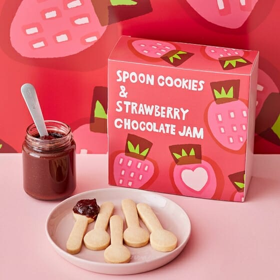 スプーンクッキー&苺とチョコレートのジャム