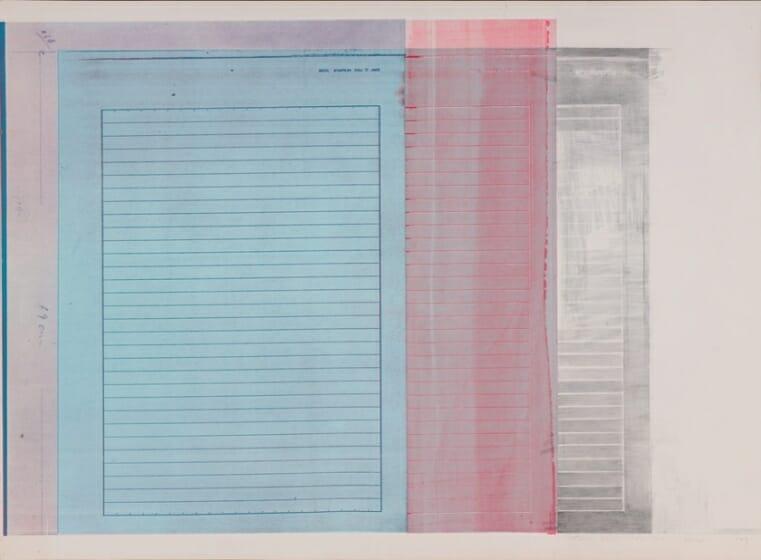 辰野登恵子《WORK 77-D-10》/1977年/シルクスクリーン、紙/個人蔵/©辰野剛、平出利恵子/撮影:岡野圭