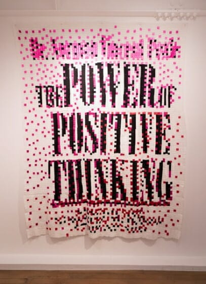 「The Power of Positive Thinking」 Patchwork, 2018