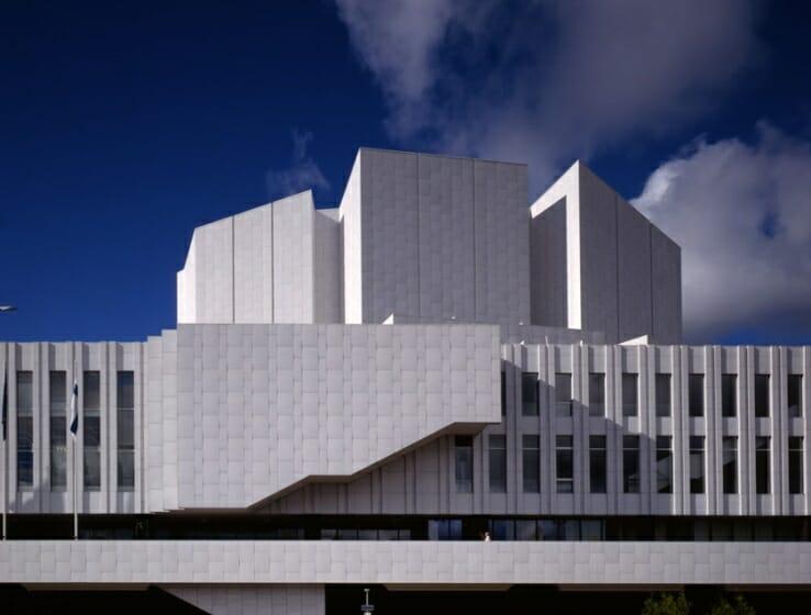 アルヴァ・アアルト《フィンランディア・ホール》1962-71年 ヘルシンキ(フィンランド) Finlandia, Concert Hall and Convential Centre, Helsinki, Alvar Aalto, 1962-1971  ©Alvar Aalto Museum,photo: Rune Snellman