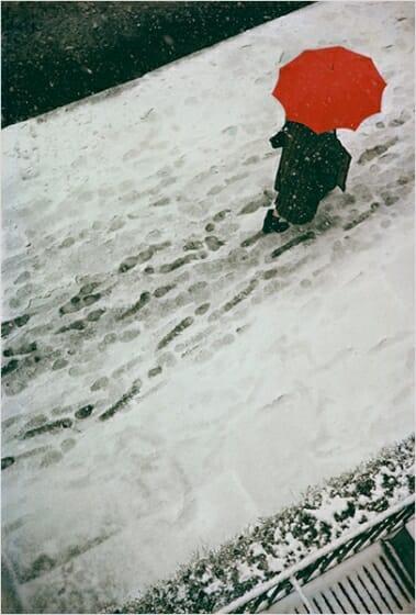 《足跡》 1950年頃 ソール・ライター財団蔵 ©Saul Leiter Foundation