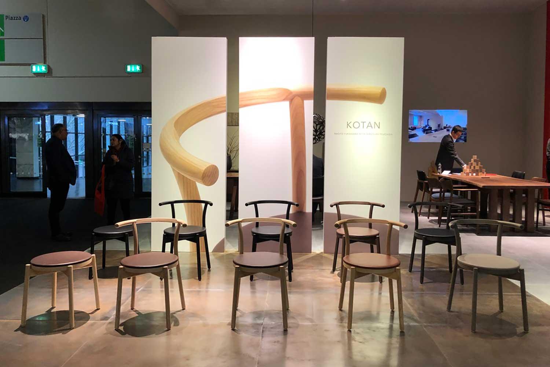 immで発表したカンディハウスの新製品「KOTAN」、デザイン:Naoto Fukasawa with Hiroyuki Tsuchida