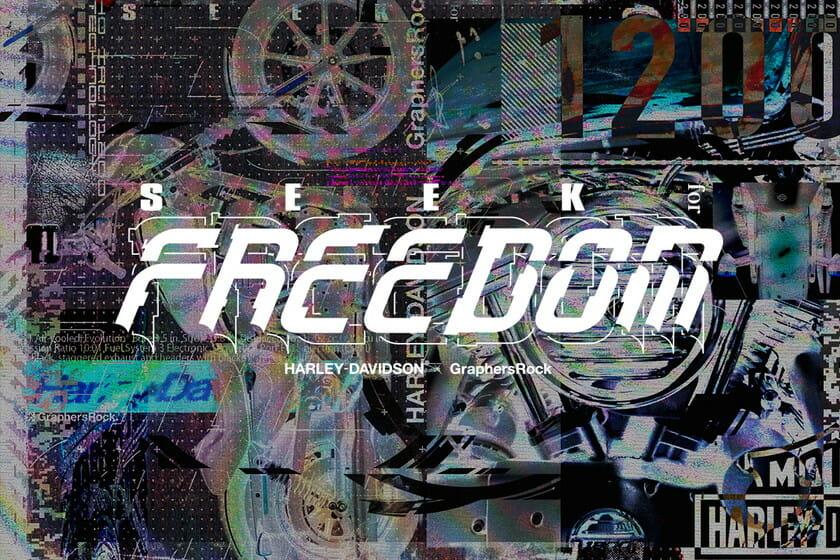 名機「アイアン1200™」に新たなデザインを施す、HARLEY-DAVIDSON® × GraphersRockコラボプロジェクト「SEEK for FREEDOM」が始動