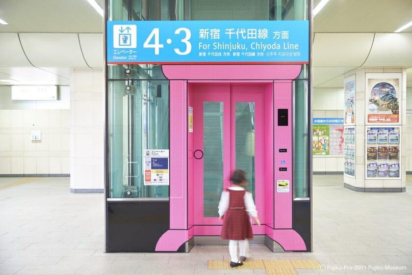 小田急線 登戸駅 ドラえもんサイン計画 (5)