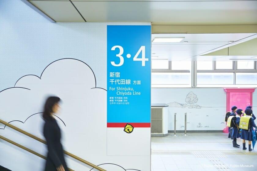 小田急線 登戸駅 ドラえもんサイン計画 (7)