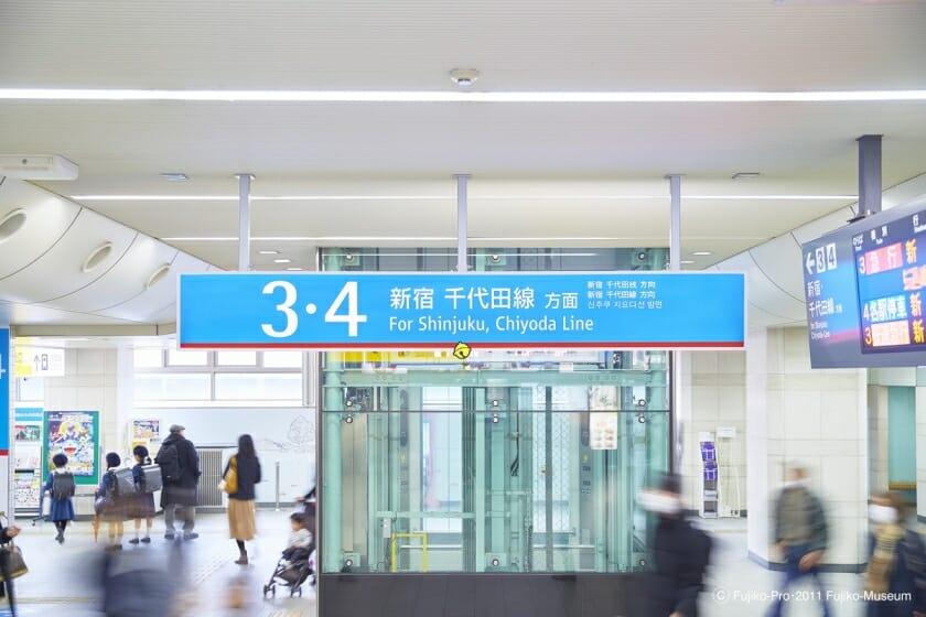 小田急線 登戸駅 ドラえもんサイン計画 (4)