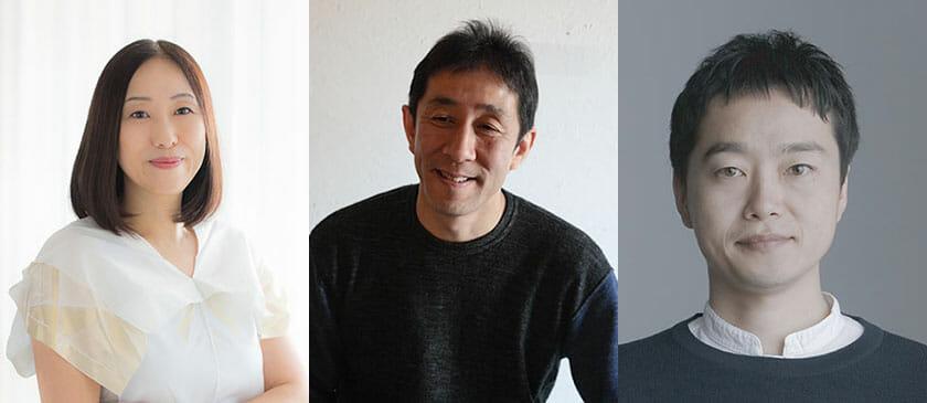 (左)川上典李子(中)小泉誠(右)鈴野浩一