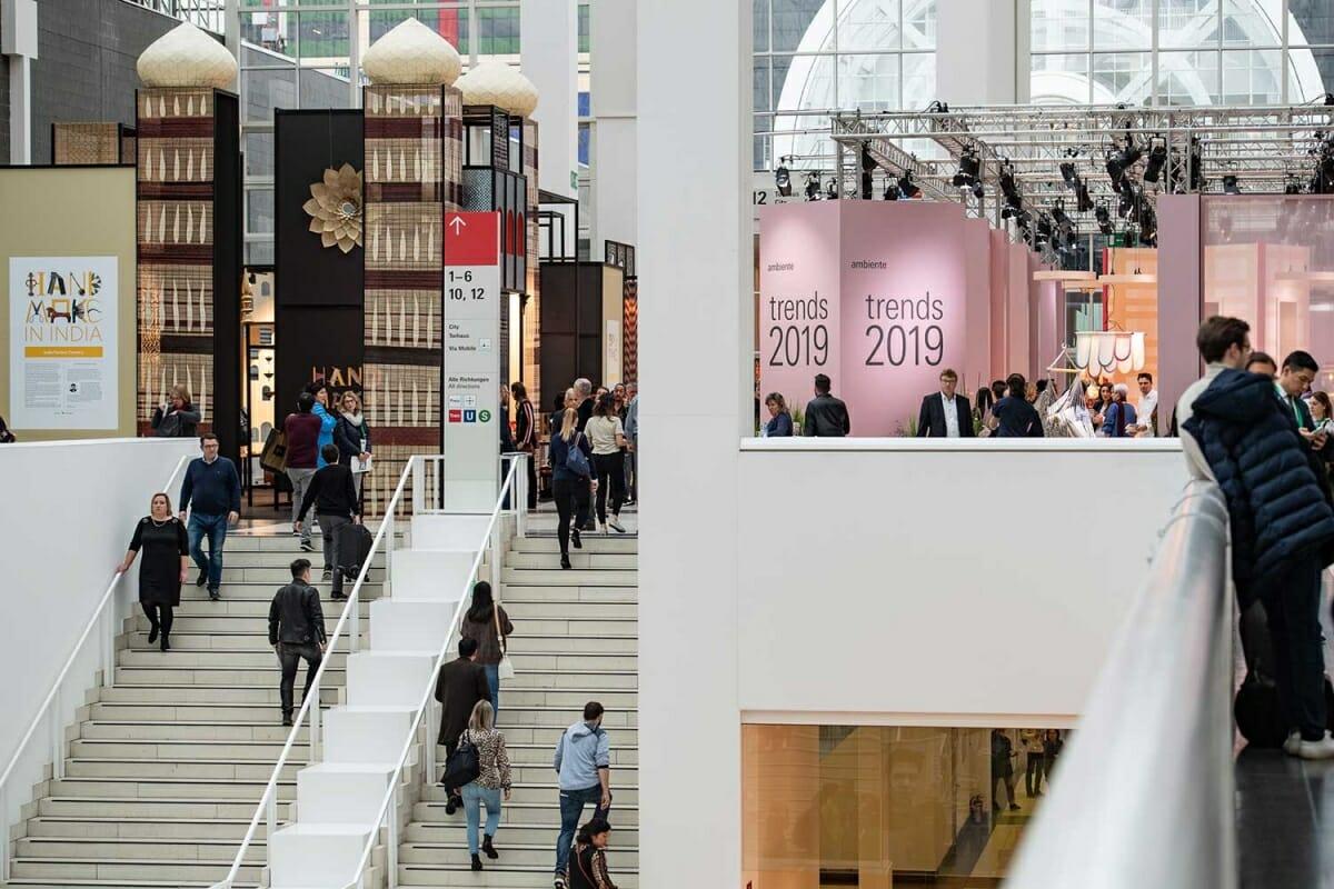2019年のアンビエンテのパートナー・カントリーであるインドと「trends」の展示、Messe Frankfurt Exhibition GmbH / Pietro Sutera
