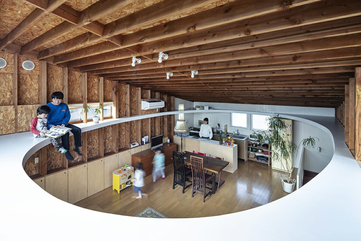天井の楕円