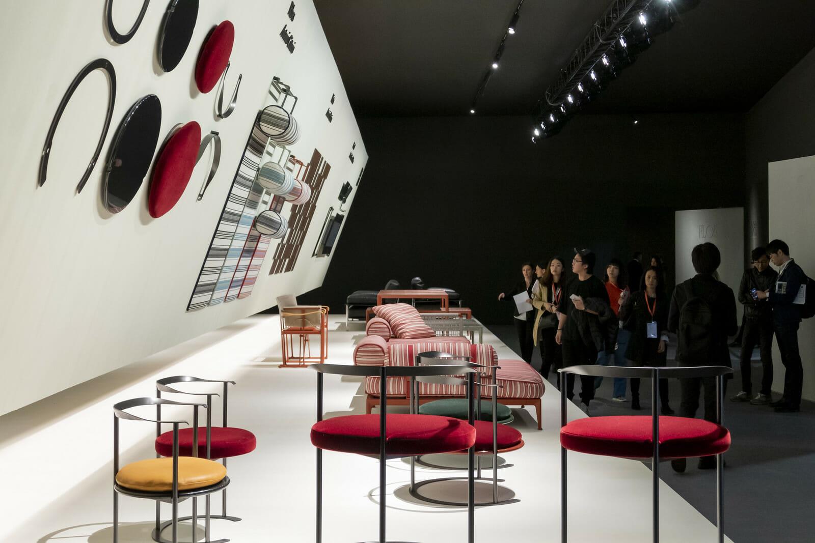 サローネの新エリアS.Project(後述)で大きな存在感を示したB&B Italia、Photo:Courtesy Salone del Mobile.Milano/ Saverio Lombardi Vallauri