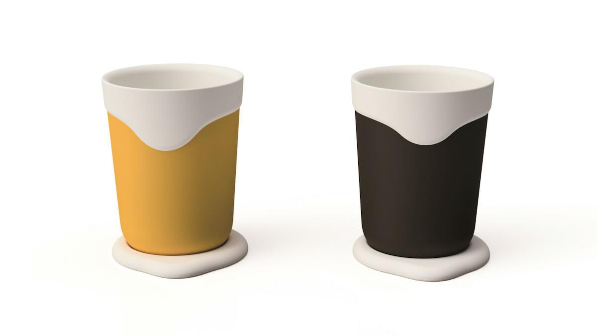 陶器のような質感と熱伝導性をあわせ持つ「NAGORI タンブラー」。2018年度グッドデザイン賞受賞、「グッドデザイン・ベスト 100」にも選出された。
