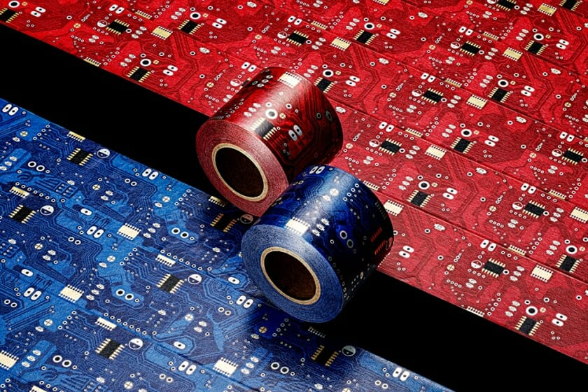 ナスカの地上絵がモチーフ。小玉文がデザインを手がけるマスキングテープ「ナスカ・パルパの電子回路」が8月10日から受注開始