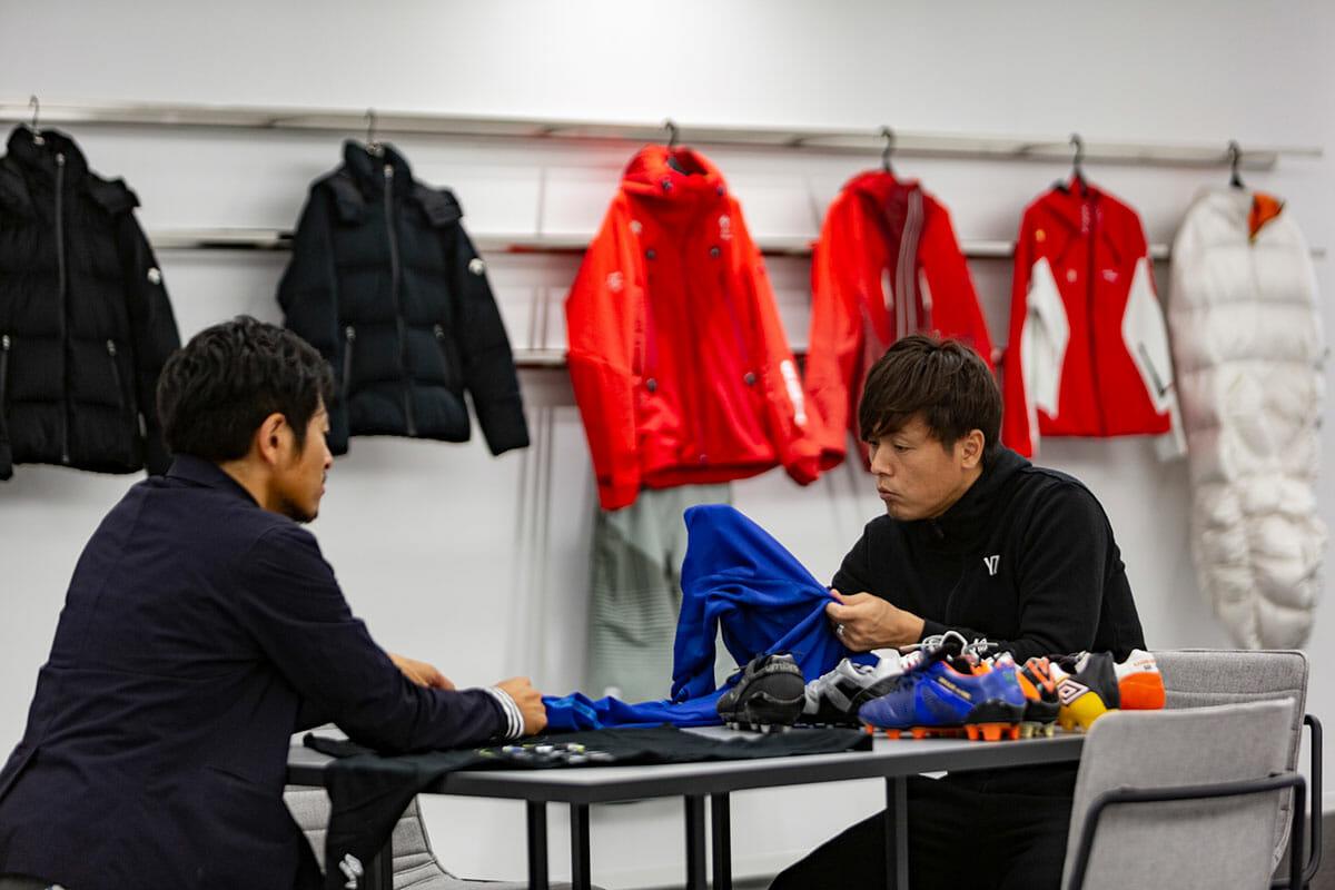 DISCを訪れた際の、Jリーグ・ガンバ大阪 遠藤保仁選手