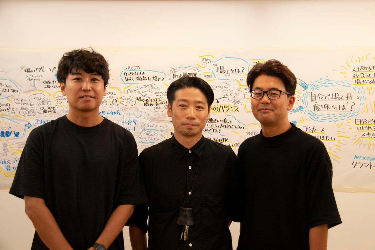 当日は、楽天株式会社「グラフィックレコーディング部」の松井藍さんが、3人のお話をグラフィックレコーディングしていただきました。