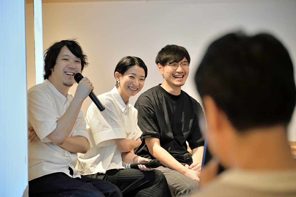 小野さん、長谷川さん、三宅さん