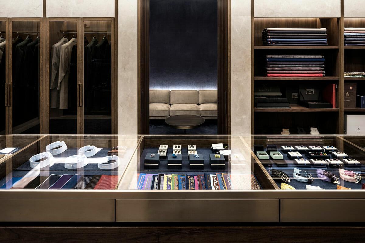 湯山さんが手がけた、中国発の高級テーラーブランド「Genttio」の旗艦店