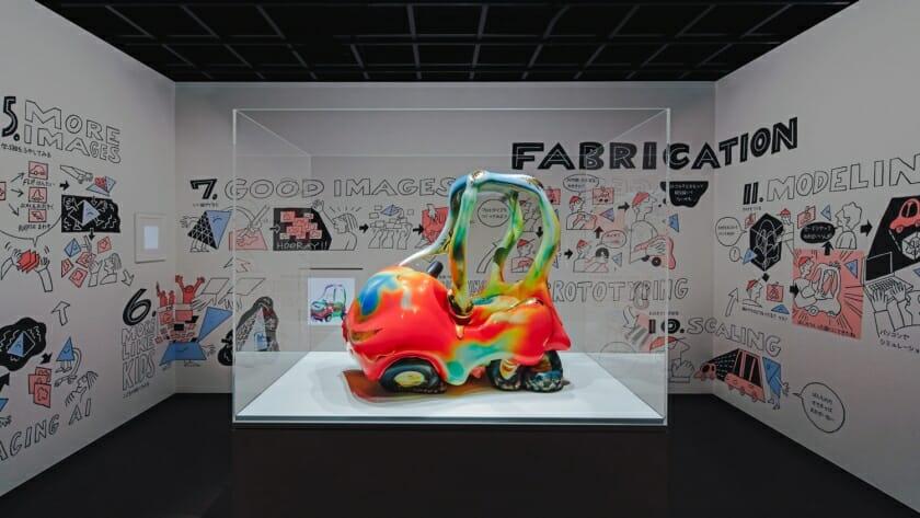 PARTYが制作したAIと人間によるアート作品「GANGU」が、日本科学未来館にて11月より常設展示開始