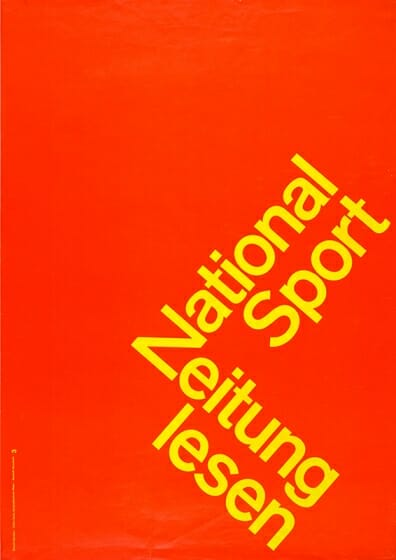National-Zeitung Poster / 1960 / <br />Photograph Courtesy of the Museum für Gestaltung Zürich, Poster Collection, ZHdK