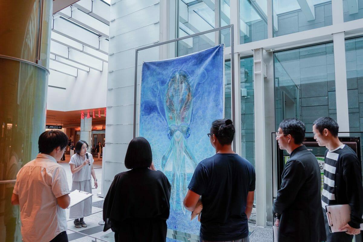 アートコンペの準グランプリを受賞した宮内裕賀さんの「イカトカイ」最終審査