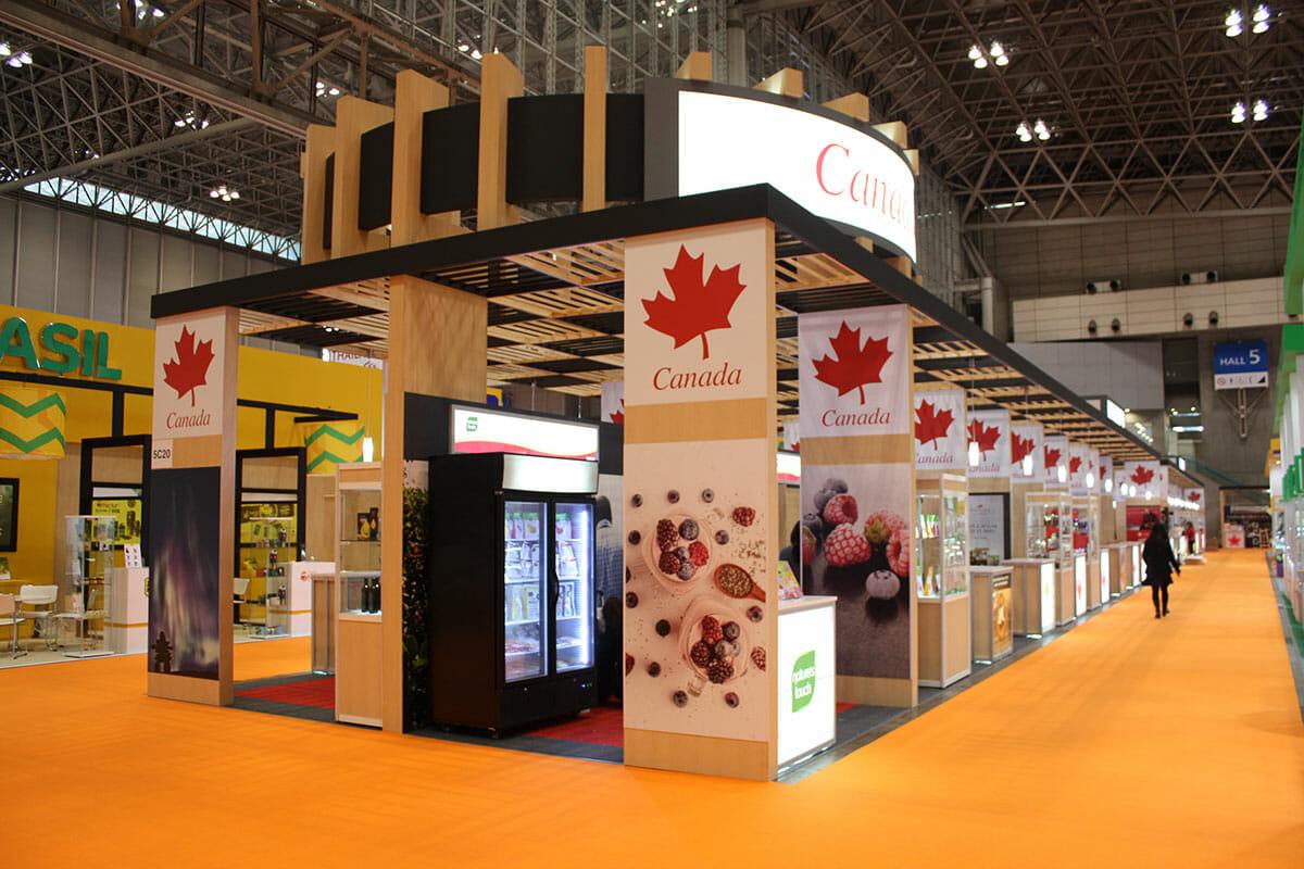 FOODEX JAPAN カナダのパビリオン(実際の完成写真)