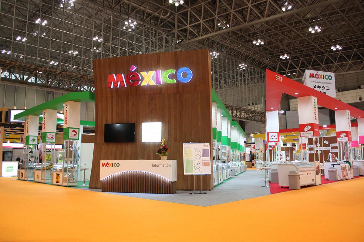 FOODEX JAPAN メキシコのパビリオン(実際の完成写真)(