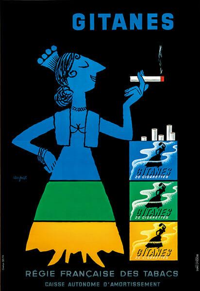 レイモン・サヴィニャック Gitanes 1953年 <br />©️ADAGP, Paris & JASPAR, Tokyo, 2019 C3041