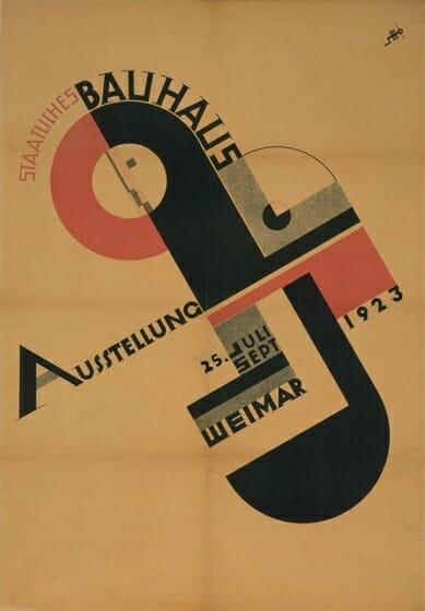 ヨースト・シュミット《1923年の「バウハウス展」のポスター》 1923年 ミサワホーム株式会社