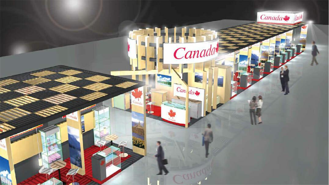 FOODEX JAPAN カナダのパビリオン(パース)